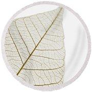 Transparent Leaf Round Beach Towel