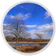 2 Tree Round Beach Towel