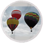 Trio Of Balloons  Round Beach Towel