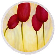 Tulips Are People Xv Round Beach Towel