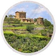 Tuscany - Montalcino Round Beach Towel