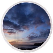 Tynemouth Sunrise Round Beach Towel