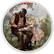 Uncle Toms Cabin, C1899 Round Beach Towel