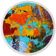 Under The Tropical Sea Round Beach Towel