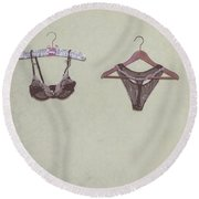 Underwear Round Beach Towel