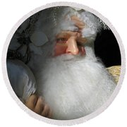 Upscale Father Christmas Round Beach Towel