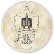 Vacuum Tube Patent 1942 - Vintage Round Beach Towel