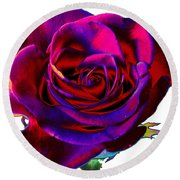 Velvet Rose Round Beach Towel