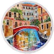 Venice Magic Round Beach Towel