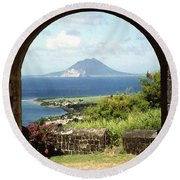 View From Brimstone Hill Fortress Round Beach Towel