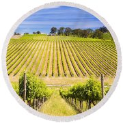 Vineyard Round Beach Towel