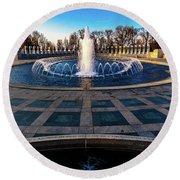 Washington D.c. - Fountains And World Round Beach Towel