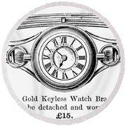 Watch Bracelet, 1891 Round Beach Towel