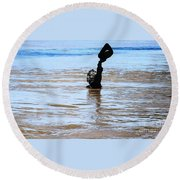 Waters Up Round Beach Towel