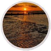 Welsh Sunset Round Beach Towel