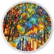 When Dreams Come True Round Beach Towel by Leonid Afremov