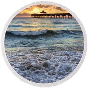 Whipped Cream Round Beach Towel