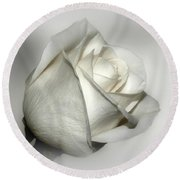 White Rose Round Beach Towel