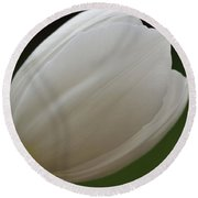 White Tulip 1 Round Beach Towel