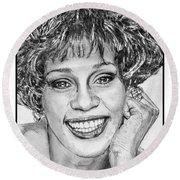 Whitney Houston In 1992 Round Beach Towel