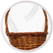 Wicker Basket Number Twelve Round Beach Towel