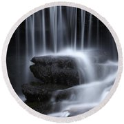 Wilderness Waterfall Round Beach Towel