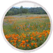 Wildflower Wonderland 10 Round Beach Towel