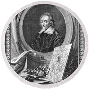 William Harvey (1578-1657) Round Beach Towel