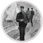 William II Of Germany (1859-1941) Round Beach Towel