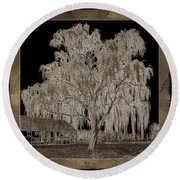 Willow Ranch Round Beach Towel