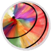 Wind Wheel Round Beach Towel
