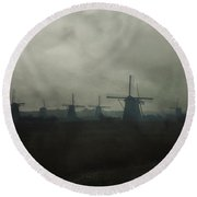 Windmills Round Beach Towel by Joana Kruse