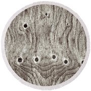 Wooden Background Round Beach Towel