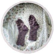 Woollen Socks Round Beach Towel