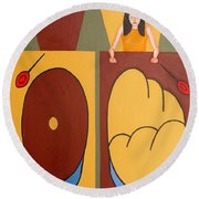 2 Worlds Round Beach Towel by Patrick J Murphy