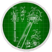 Wrench Patent 1915 - Green Round Beach Towel