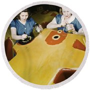 Wwii Workers, 1942 Round Beach Towel