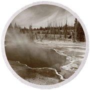 Yellowstone Park Round Beach Towel