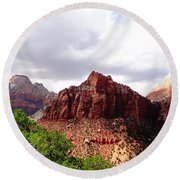 Zion Round Beach Towel