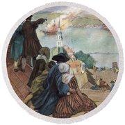 Battle Of Bunker Hill, 1775 Round Beach Towel
