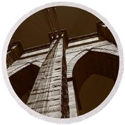 Brooklyn Bridge - New York City Round Beach Towel