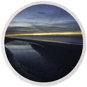 20 Degree Beach Sunrise Round Beach Towel