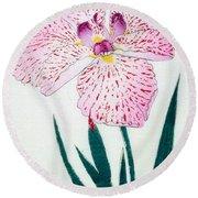Japanese Flower Round Beach Towel