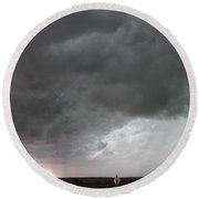 Nebraska Panhandle Supercells Round Beach Towel