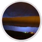 Nebraska Roll Cloud A Cometh Round Beach Towel