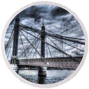 The Albert Bridge London Round Beach Towel