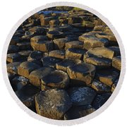The Giants Causeway Round Beach Towel