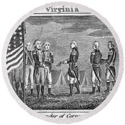 Yorktown: Surrender, 1781 Round Beach Towel
