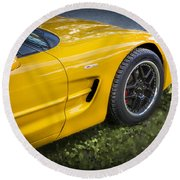 2002 Chevrolet Corvette Z06 Round Beach Towel