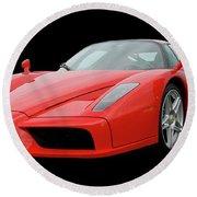 2002 Enzo Ferrari 400 Round Beach Towel